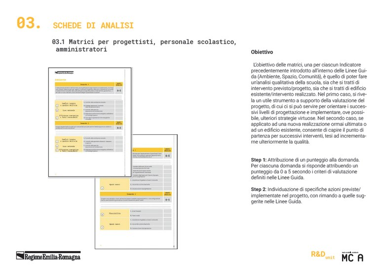 03.1 Matrici per progettisti, personale scolastico, amministratori (1)