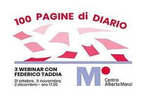 100 pagine di diario, tre webinar con Federico Taddia